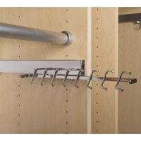 Deluxe Sliding Tie Rack - Chrome in Tie and Belt Racks