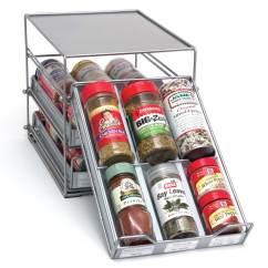 Kitchen Cabinet Storage Organizers Commercial Flooring Options Spice Drawer Organizer In Racks