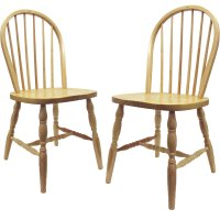 Spindle Back Dining Chairs - Natural (Set of 2) in Dining ...