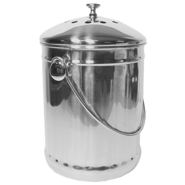 Stainless Steel Compost Pail for Kitchen