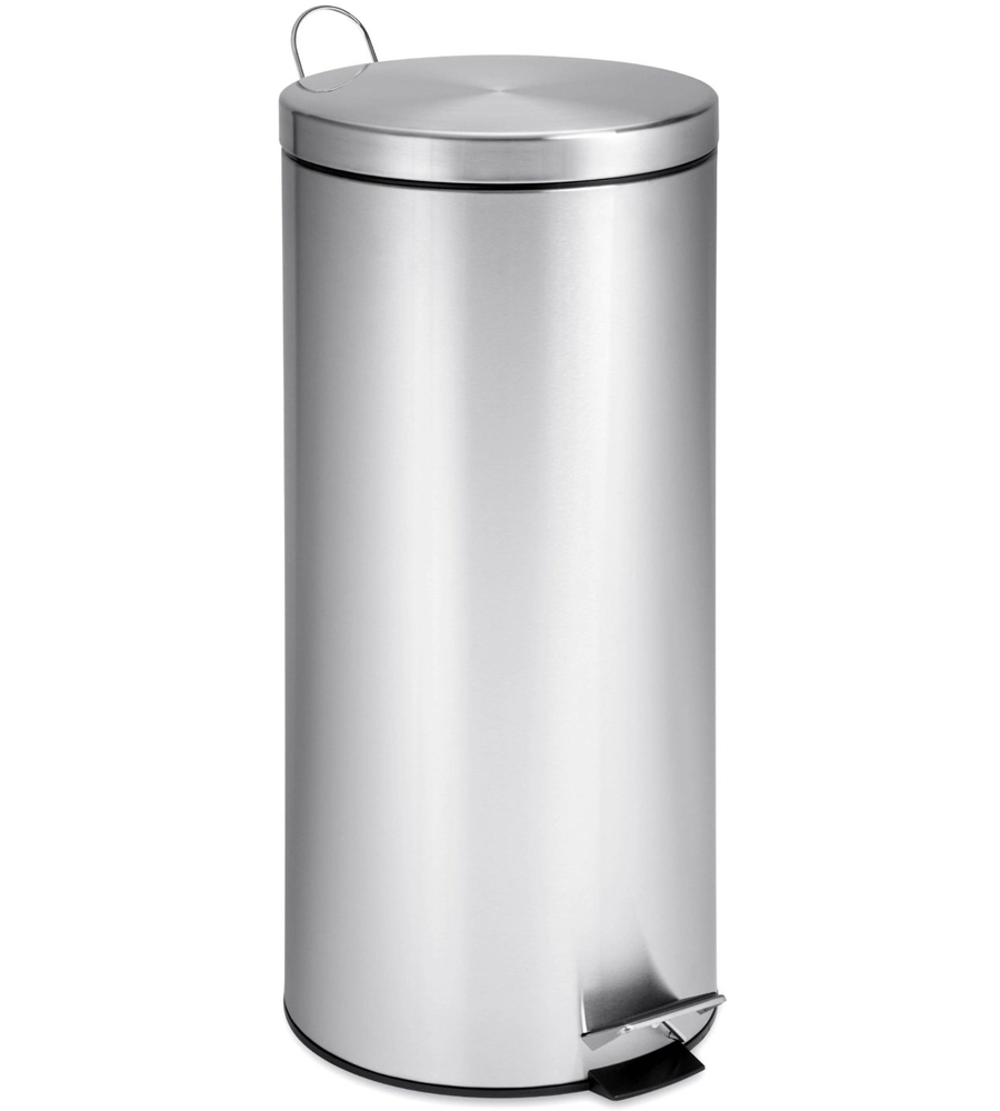 kitchen stainless steel trash can delta single handle faucet step - 30 liter in ...