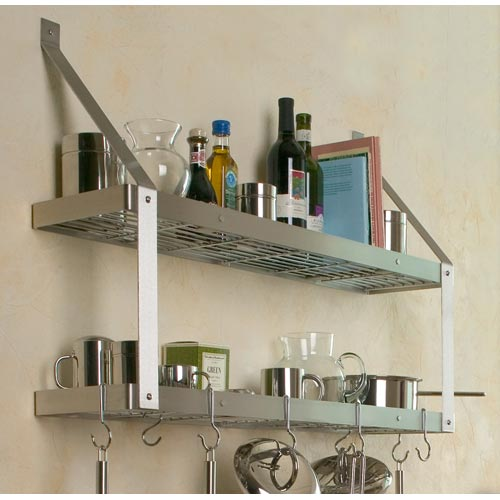 kitchen movable cabinets outdoor kitchens orlando double bookshelf pot rack in wall mount racks