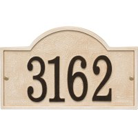 Stonework House Number Plaque in Wall Address Plaques