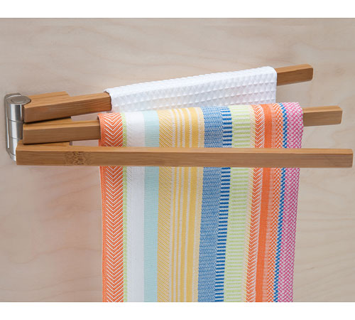Bamboo Swing Arm Kitchen Towel Rack in Kitchen Towel Holders