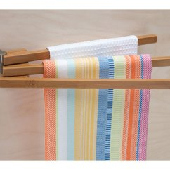 Kitchen Towel Hanger Hood Designs Bamboo Swing Arm Rack In Holders Image