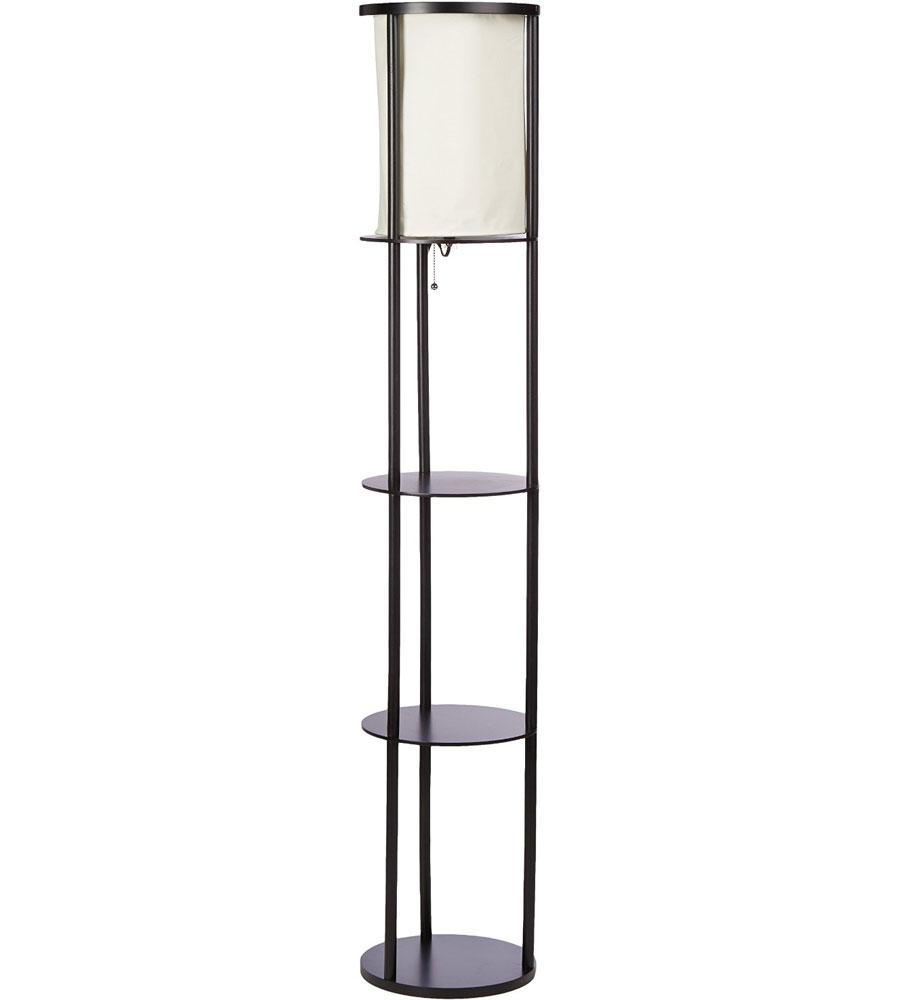 Three Shelf Floor Lamp in Free Standing Shelves