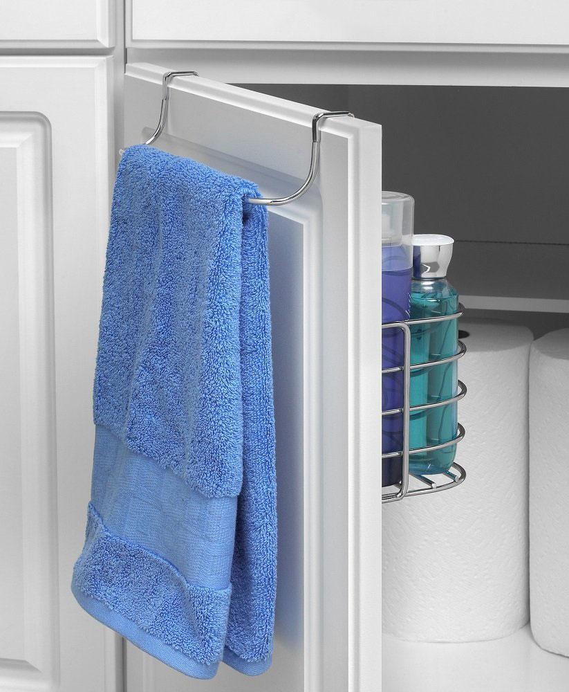 kitchen hand towels vintage appliances towel rack with basket in cabinet door organizers