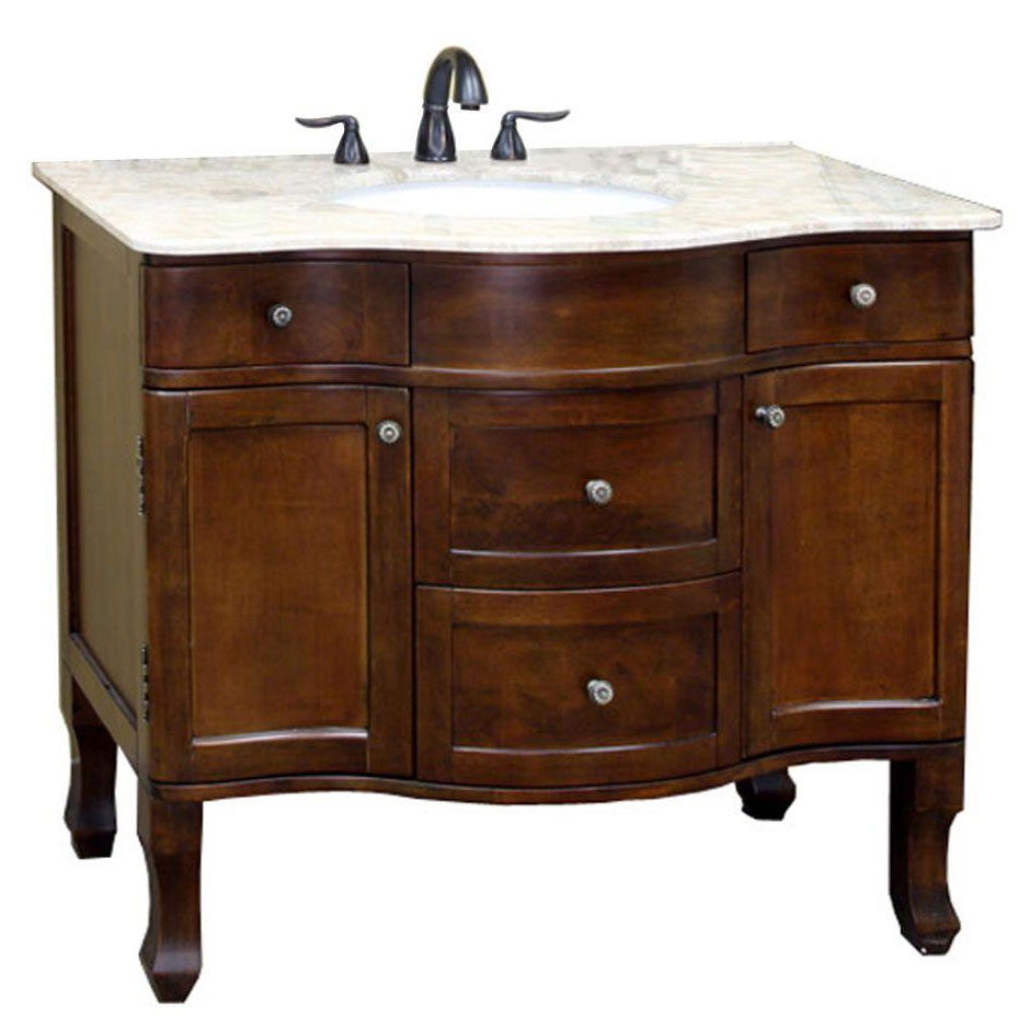 Traditional 382 Inch Single Sink Vanity and Cabinet in