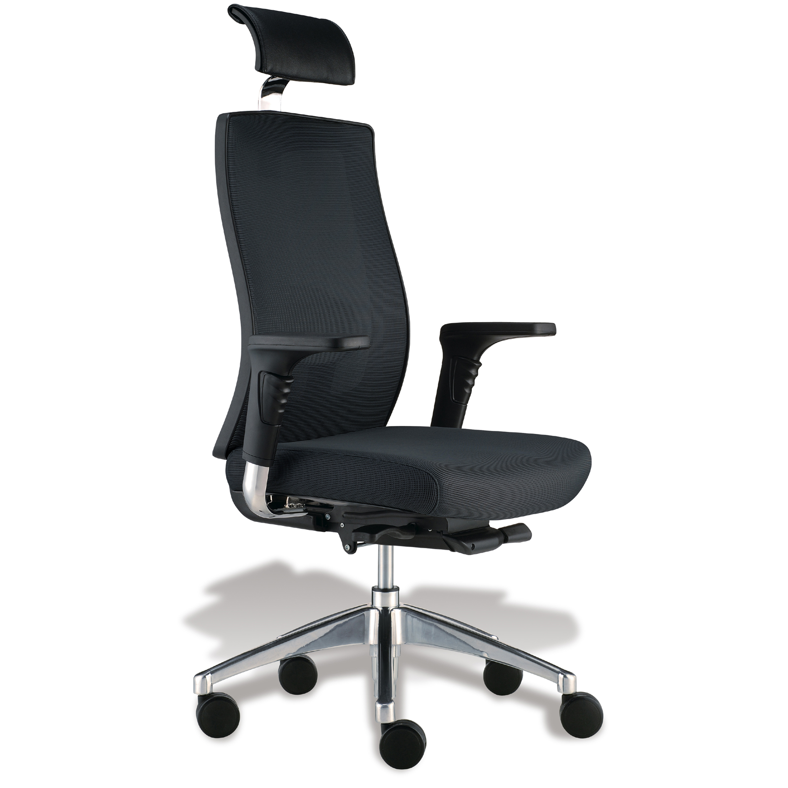 high desk chair graco cover uk back headrest office in chairs