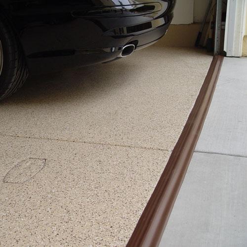 Tsunami Garage Door Seal  Brown in Garage Floor Protection