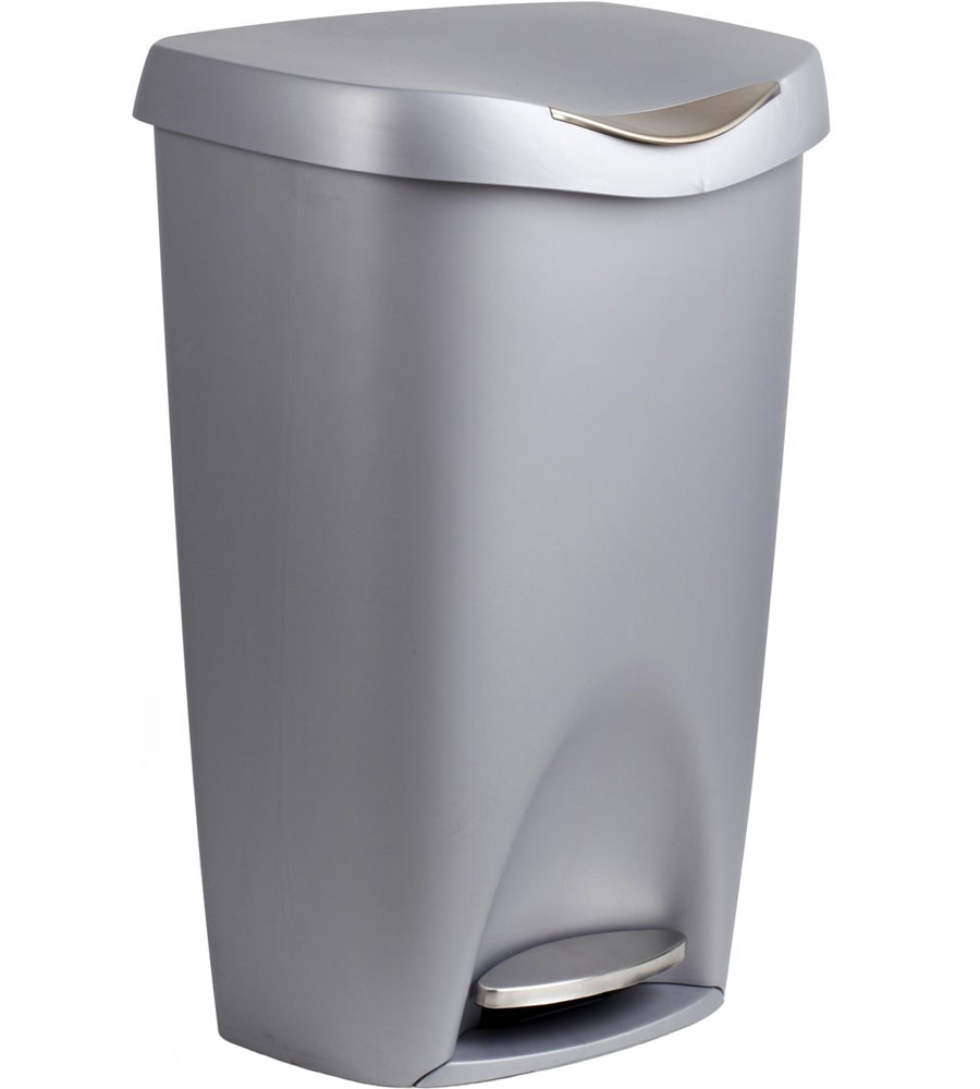 13 gallon kitchen trash can coffee cart umbra 50 liter step garbage in cans