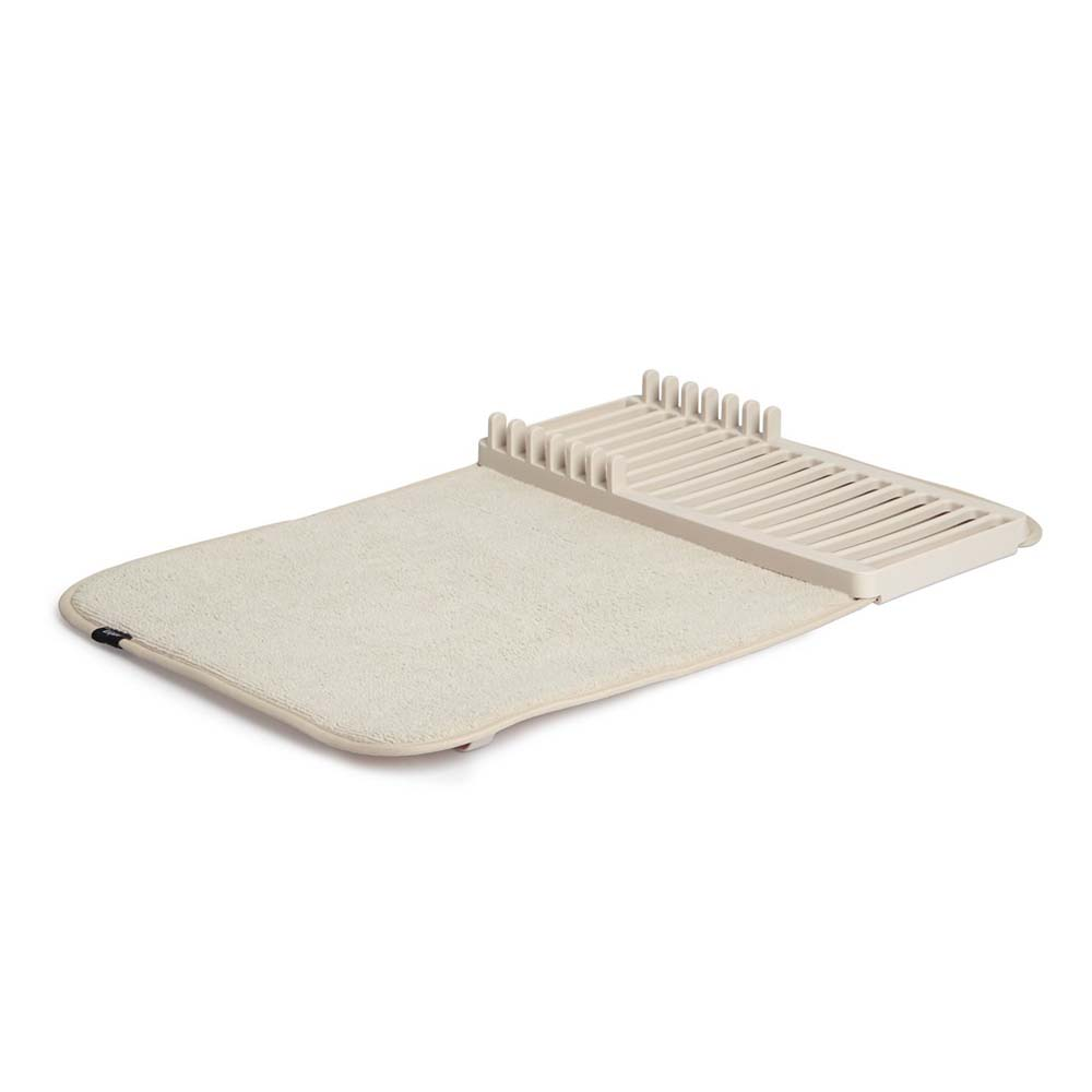 kitchen dish drying mat cart white umbra rack in racks