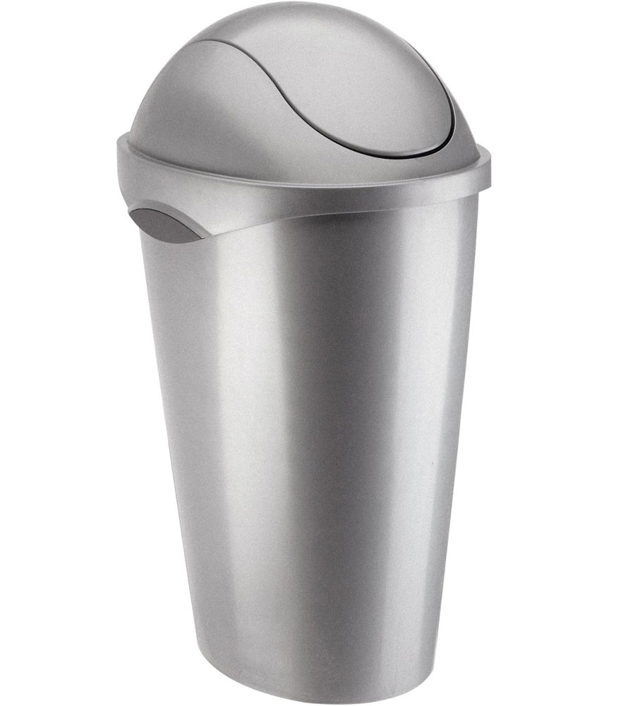 commercial kitchen trash can cabinet installation cost umbra swing top - nickel in cans