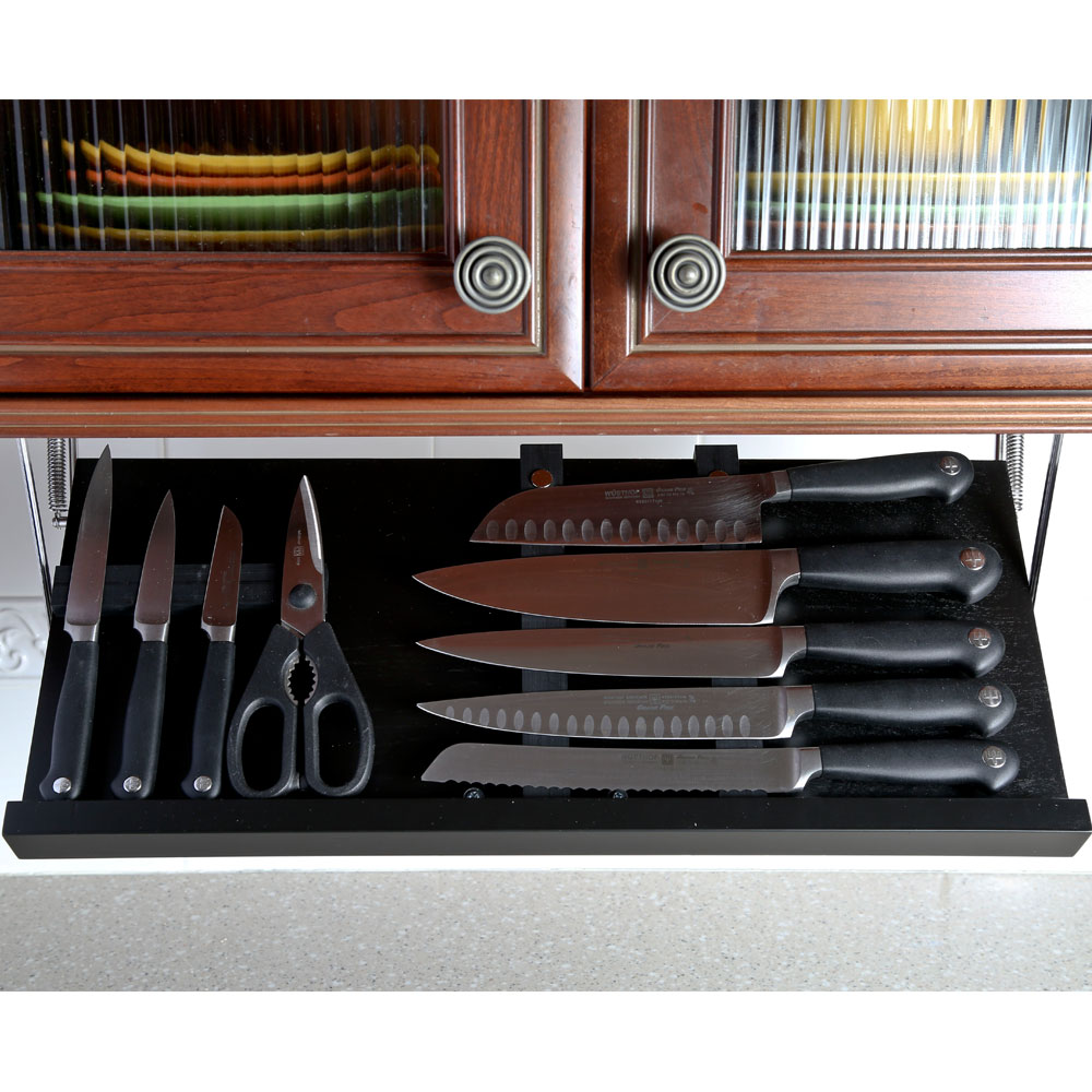 Under Cabinet Knife Block  Black in Knife Storage