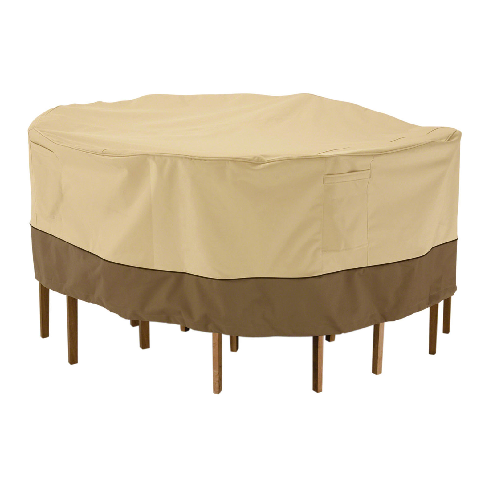 chair covers for garden furniture turquoise leather and ottoman patio table cover round veranda in