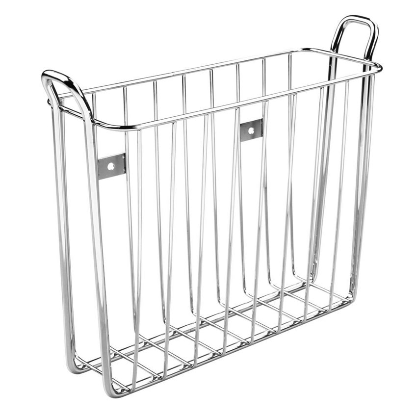 Wall Mount Chrome Magazine Rack in Wall Magazine Racks