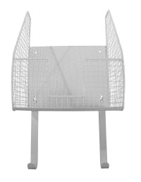 Wall Mount Iron and Ironing Board Holder - White in Iron ...