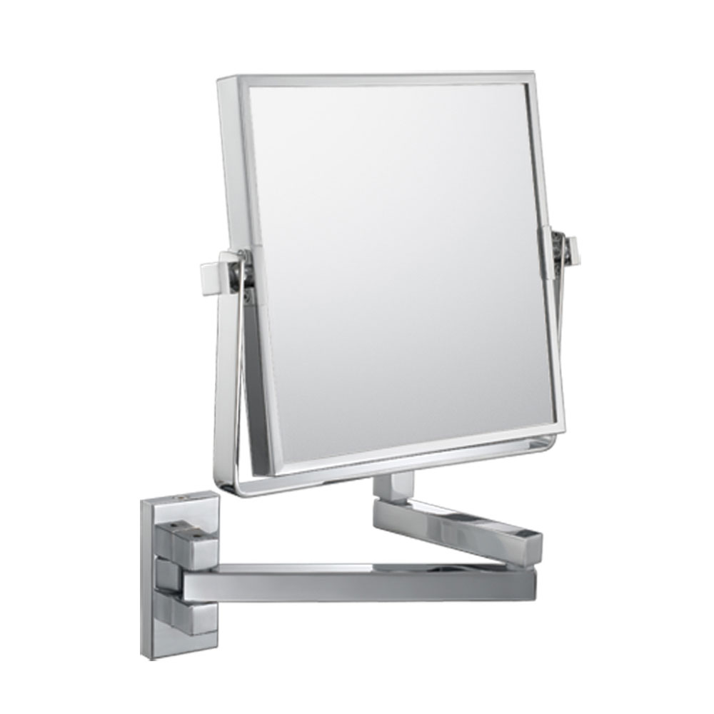 The Double Sided Square Wall Mounted Makeup Mirror In Wall
