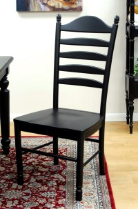 Wood Dining Chair - Black in Dining Chairs