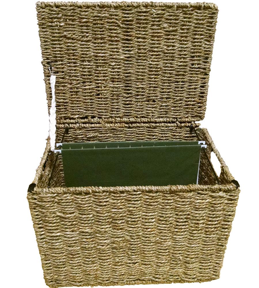 Wicker File Storage Box in File Storage Boxes