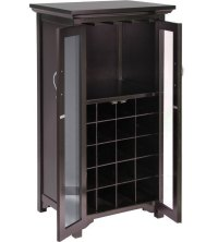 Two-Door Wine Cabinet in Wine Racks