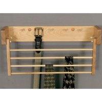 Wood Tie and Belt Rack in Tie and Belt Racks