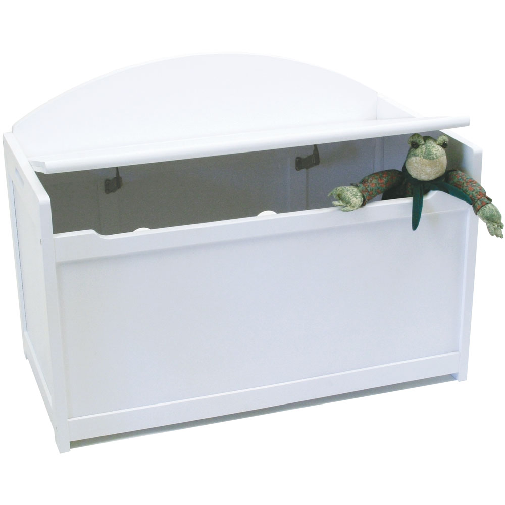 Wooden Toy Chest White In Toy Storage