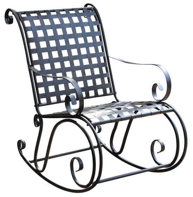 wrought iron rocking chair lego table with storage and chairs mandalay in outdoor rockers image