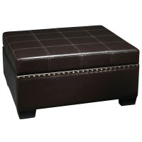 Avenue Six Storage Ottoman with Tray in Ottomans