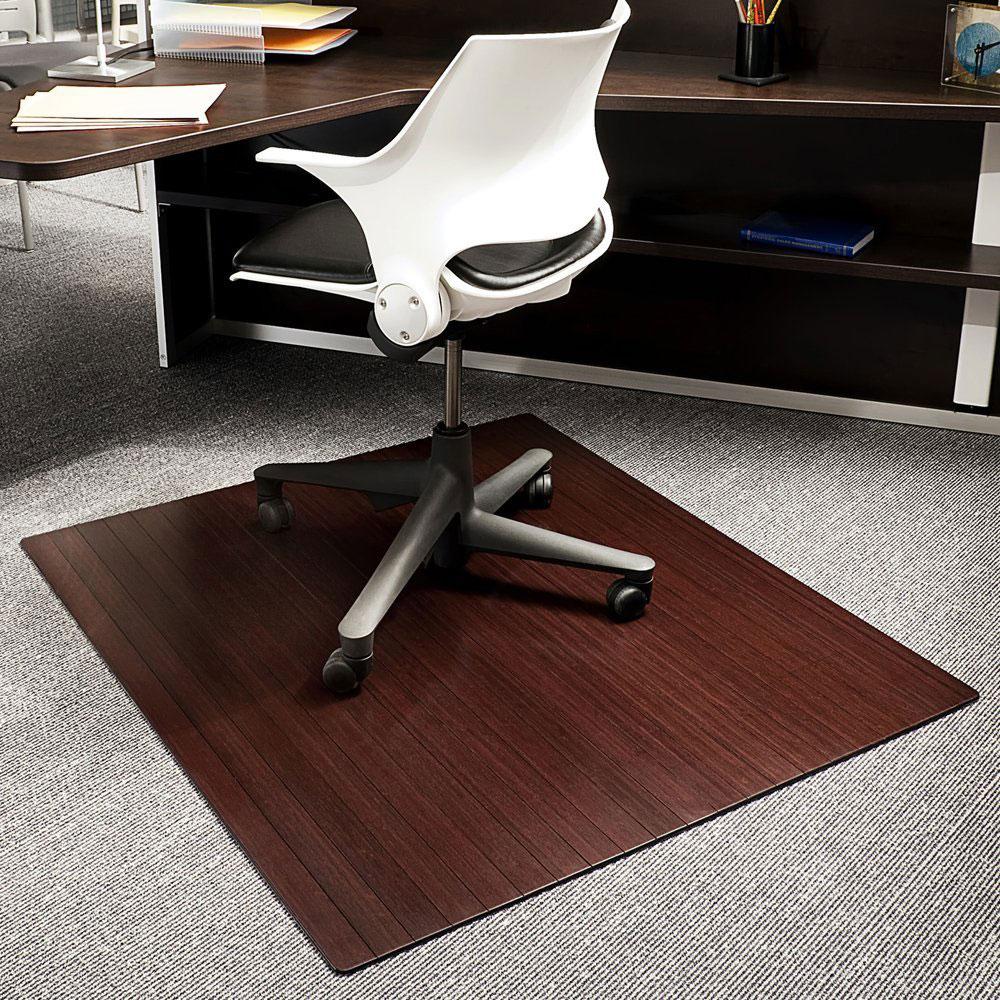 Bamboo Office Chair Mat  42x48 Inch in Chair Mats