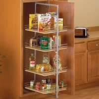 Center Mount Pantry Roll-Out System - Nickel in Pull Out ...
