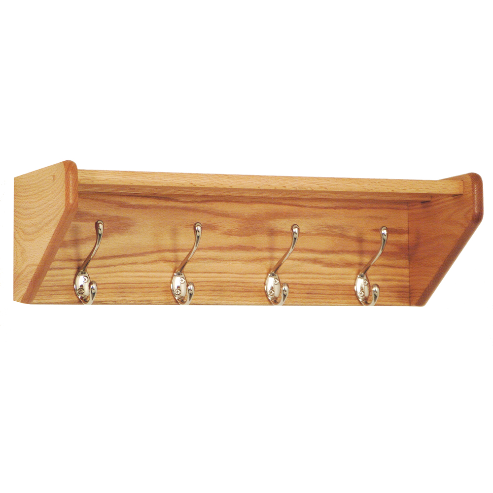 Wall Mount Coat Rack 4 Hook In Wall Coat Racks