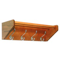 Wall Mount Coat Rack - 4 Hook in Wall Coat Racks