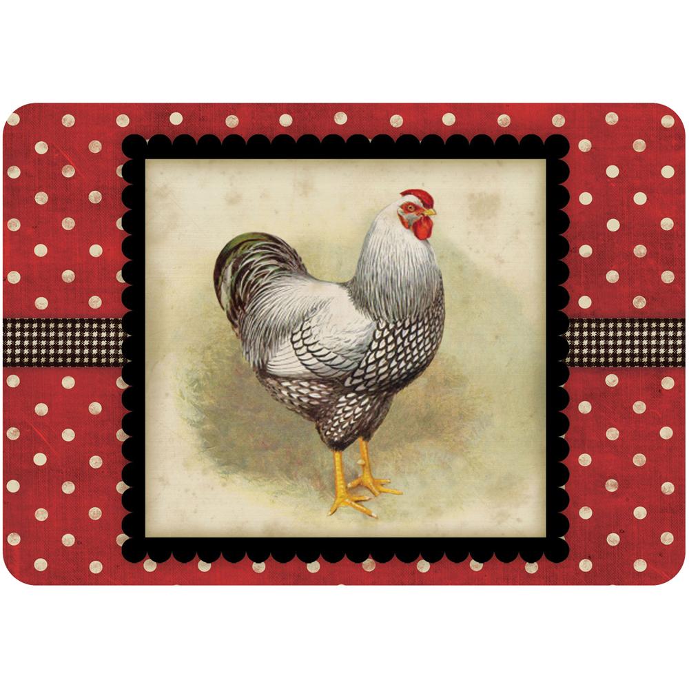 non slip kitchen rugs commercial kitchens comfort mat - rooster in floor mats