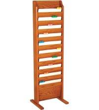 Literature Rack - Freestanding in Floor Magazine Racks