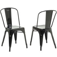 Metal Cafe Chairs (Set of 2) in Dining Chairs