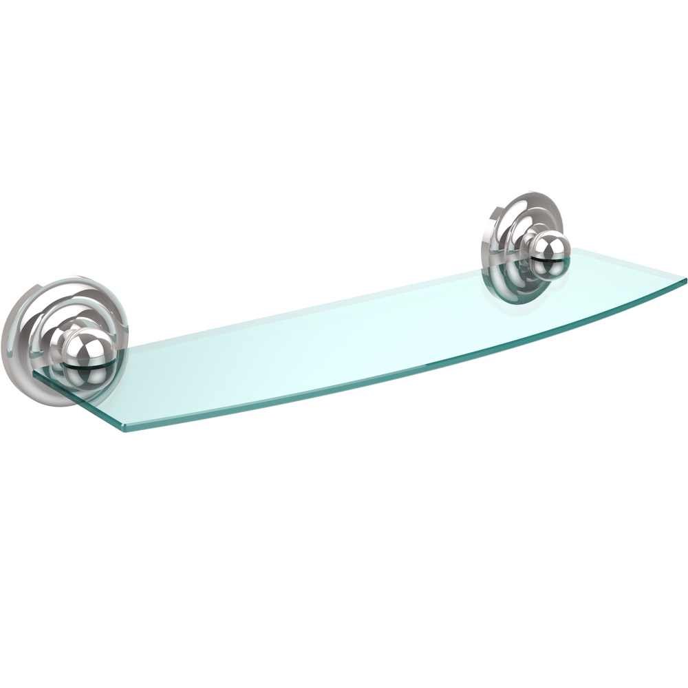 prestige beveled glass bath shelf - 18 inches in bathroom shelves