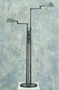Double Swing Arm Floor Lamp in Floor Lamps