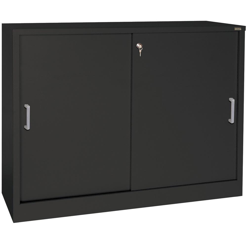 Sliding Door Storage Cabinet  29 Inch High in Storage