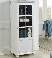 Kitchen Pantry Storage Cabinet with Glass Doors