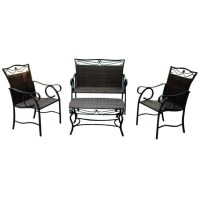 Valencia 4 Piece Patio Furniture Set in Patio Dining Sets