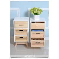 Pine wood natural color storage cabinet for bedroom and ...