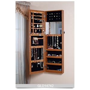 Plancher En Bois Permanent Cabinet De Bijoux Mirrored