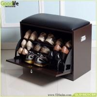 Brown shoe cabinet shoe rack cabinet shoes storage ottoman ...