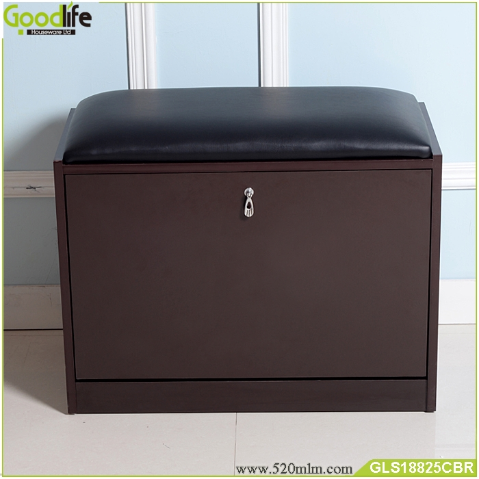 Wooden Shoe storage cabinet ottoman from China Guangdong
