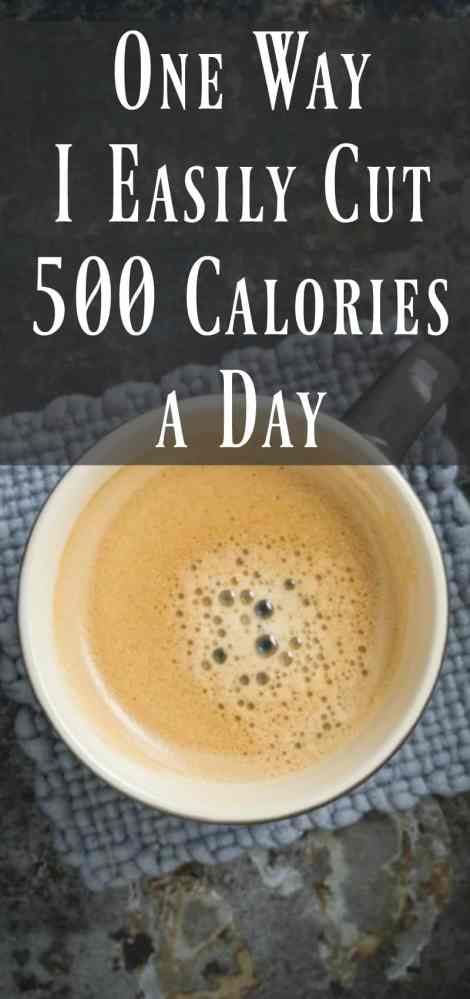 1 way I easily cut 500 calories a day