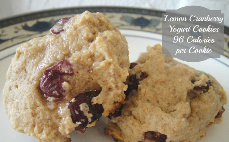 Lemon Cranberry Yogurt Cookies. Healthy cookie freezer meal recipe made with greek yogurt