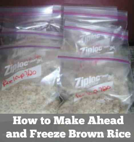 How to Make Ahead and Freeze Brown Rice