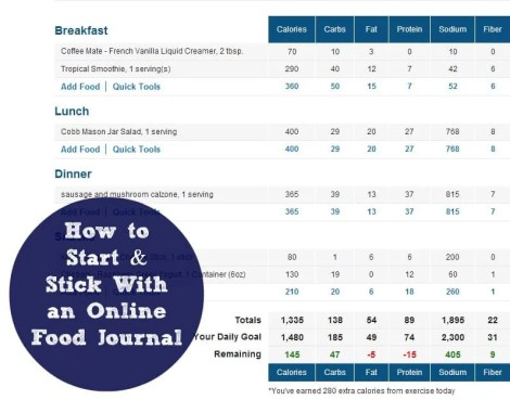 How to Start and Stick With an Online Food Journal