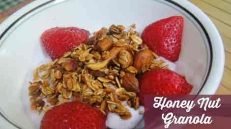 Honey Nut Homemade Granola Recipe